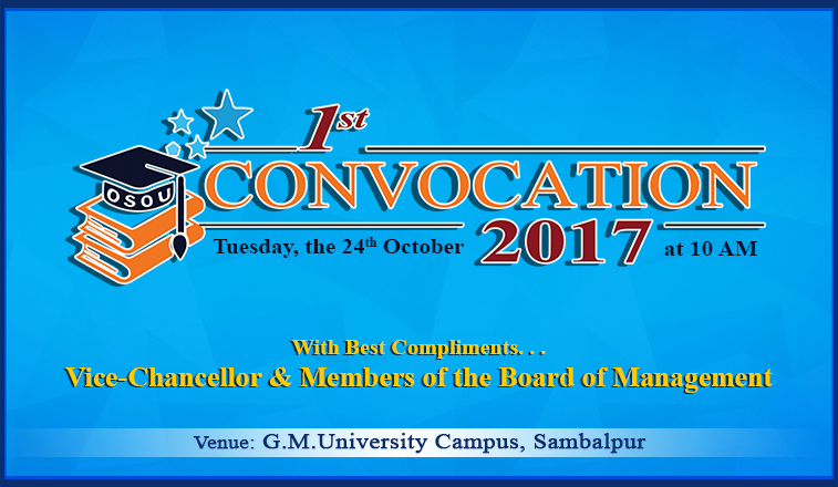 1st CONVOCATION 2017 OSOU, Sambalpur