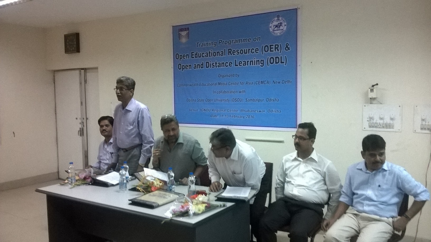 Inauguration Meeting of 3 Days Training Programme on OER & ODL