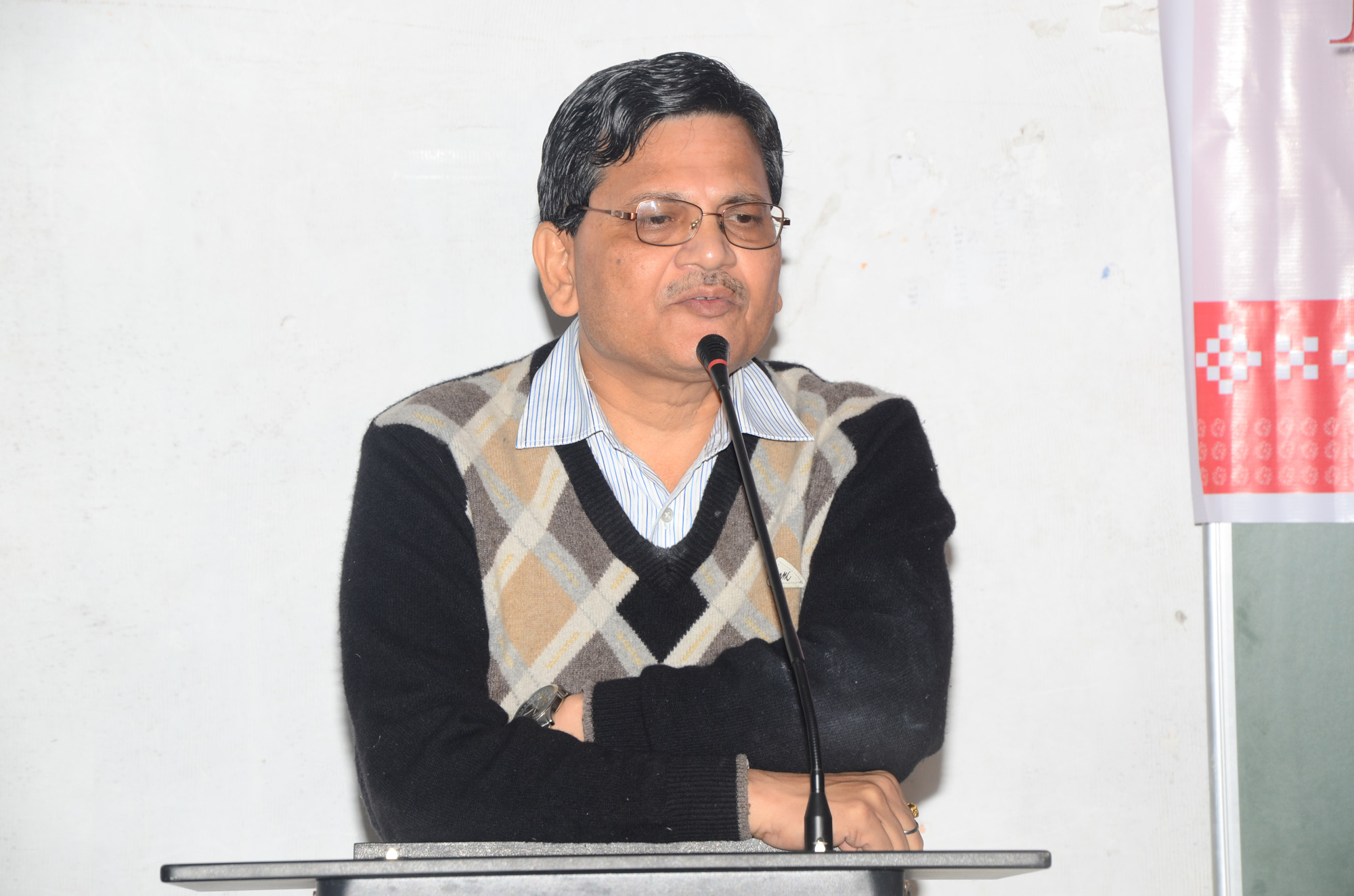 Prof. Sudhanshu Sekhar Rath, OSD, G.M. University addresses at 1st Induction Meeting of OSOU at G.M. University Campus.