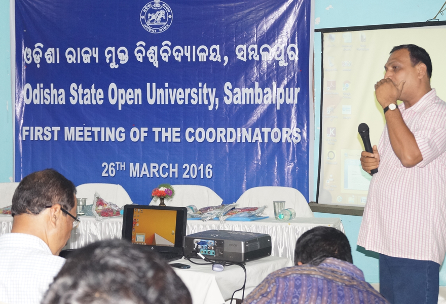 Sr. Rushi Kumar Rath addresses at first meeting of the coordinators