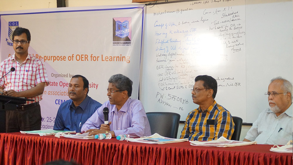 Workshop on Create and Re-purpose OER for Learning by OSOU and CEMCA