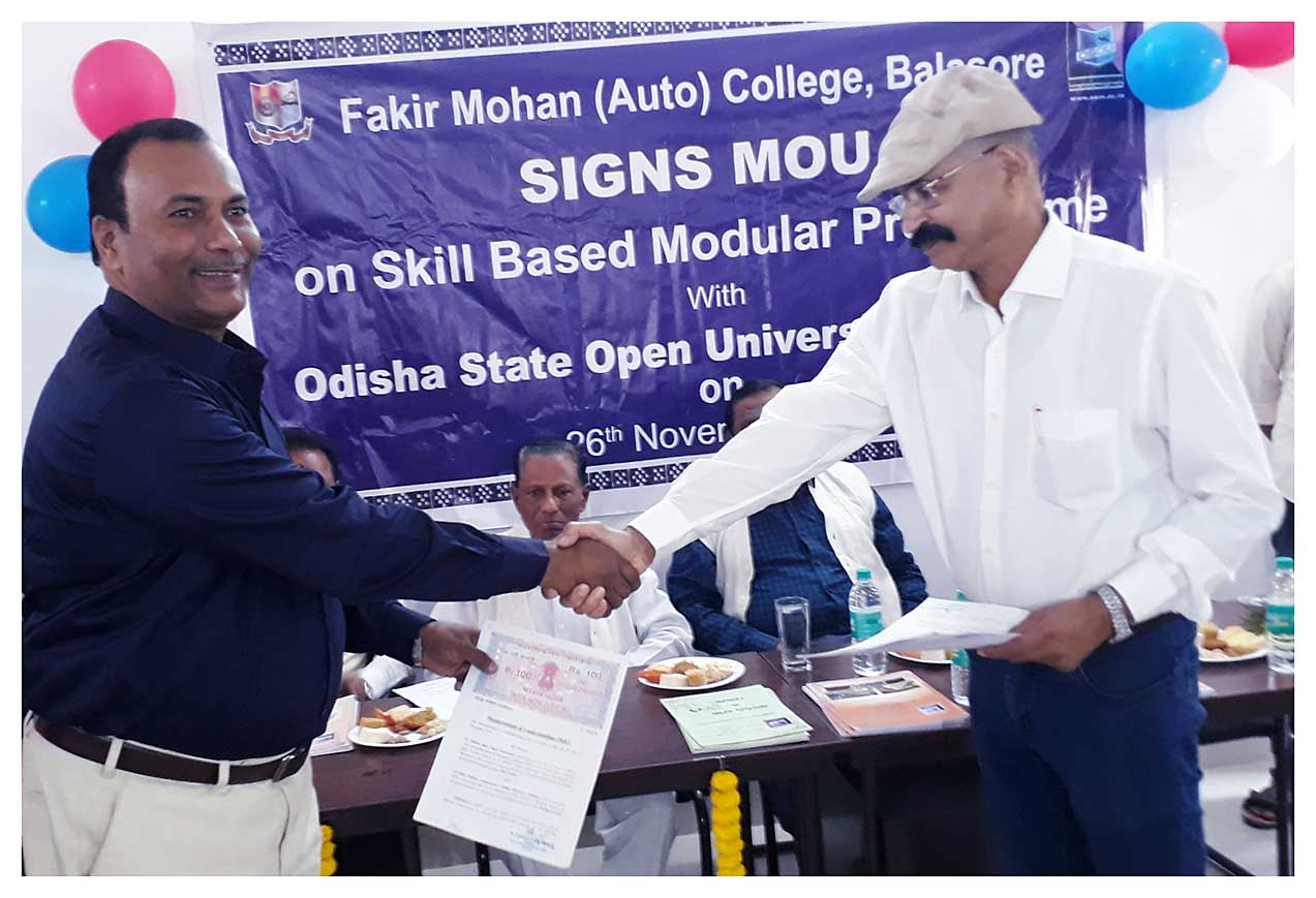Inauguration and MOU with FM college Balasore