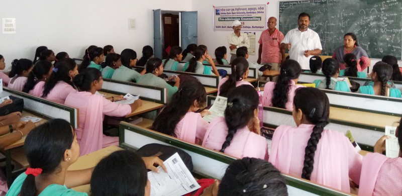 Pre-admission Counselling at SBR Govt. Women's College, Berhampur