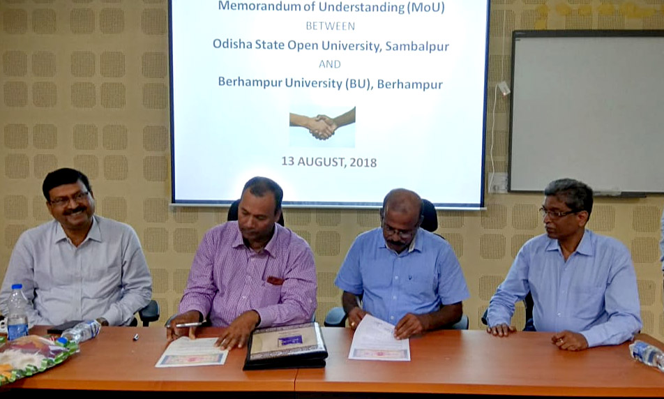 MOU between OSOU and Berhampur University