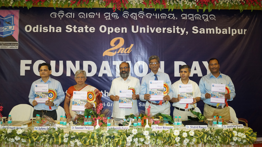 Inauguration of University Profile on Second Foundation Day of OSOU