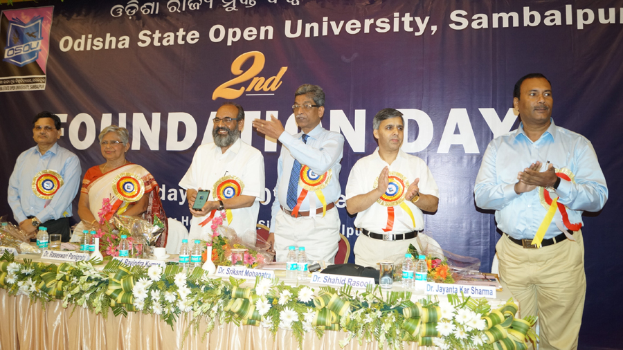 Inauguration of OSOU Mobile App on 2nd Foundation Day by Prof. Ravindra Kumar, VC, IGNOU