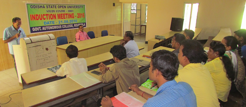 Induction Meeting for July 2016 Session at Rourkela Government Autonomous College