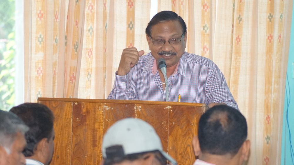 Dr. Prasanna Ku. Mishra addresses at first meeting of the coordinators
