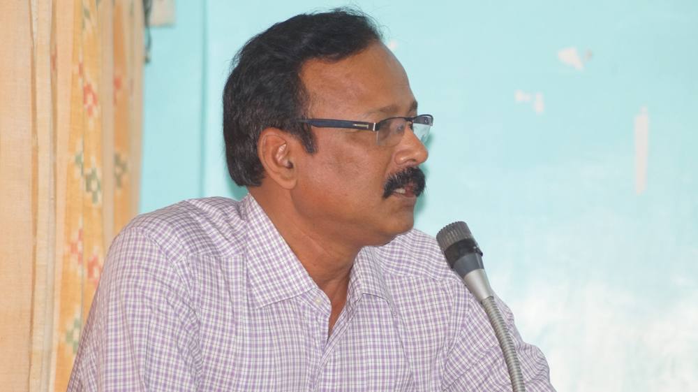 Dr. Manas Ranjan Pujari addresses at first meeting of the coordinators